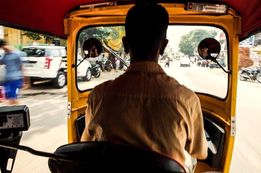 circuler en rickshaw en Inde